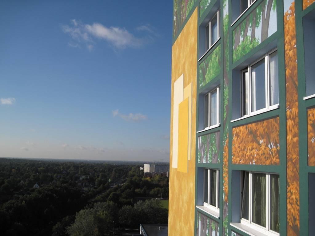 Fresque murale Flower Tower à Berlin