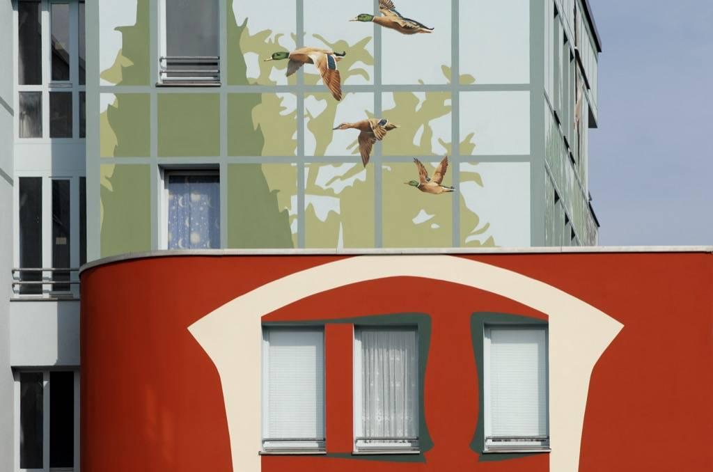 Fresque murale de La Volière à Berlin