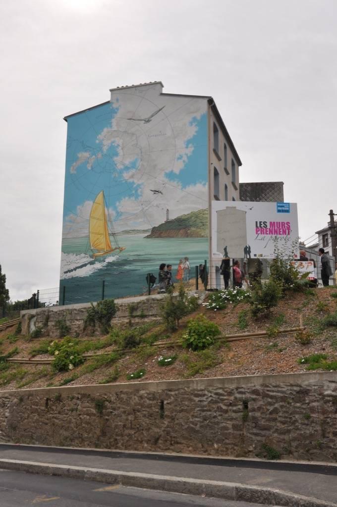 Fresque murale Parcours de murs peints à Brest en France