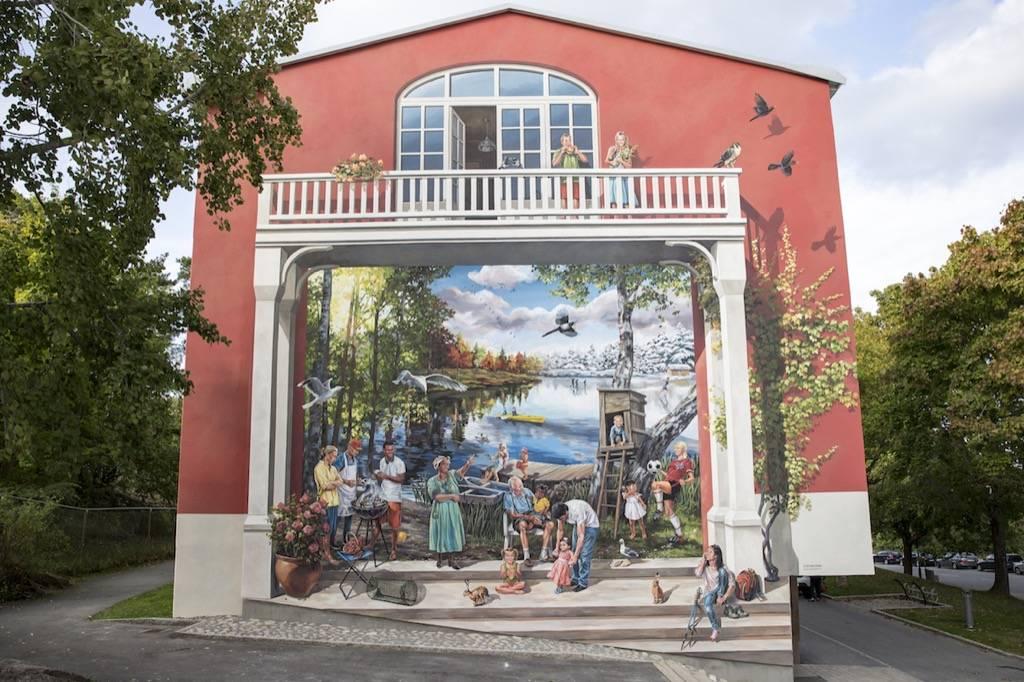 Fresque murale de Farsta Strand en Suède