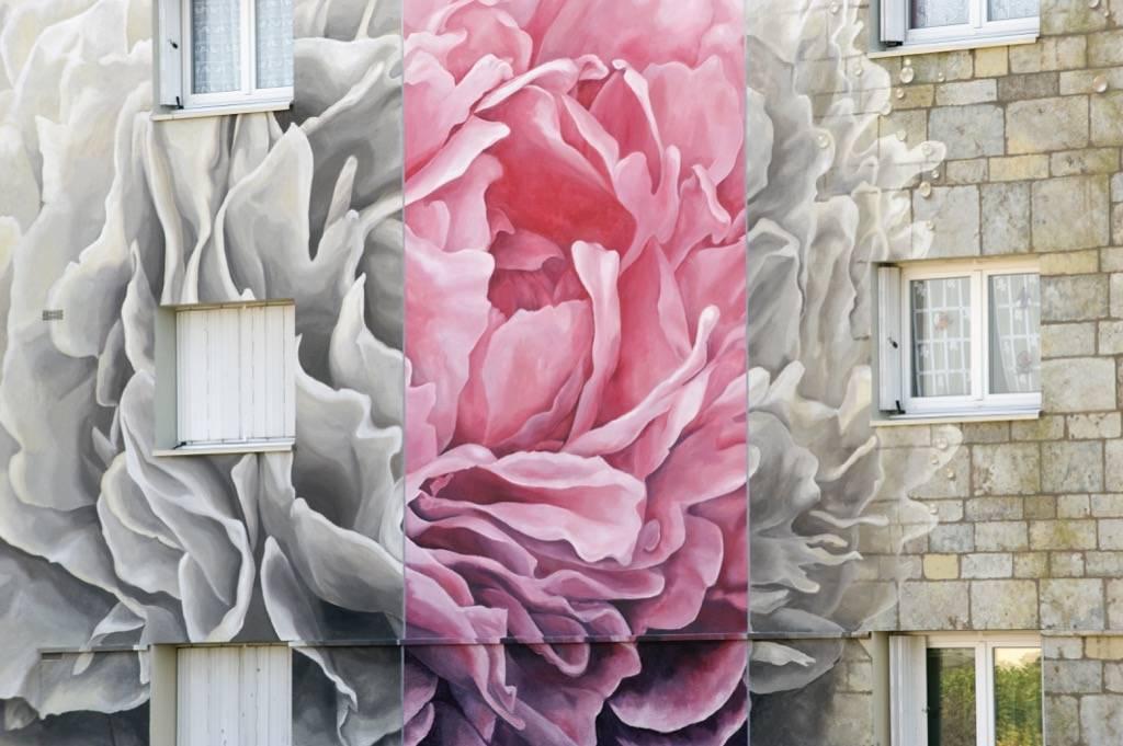 Fresque murale de Bel Air à Chartres en France