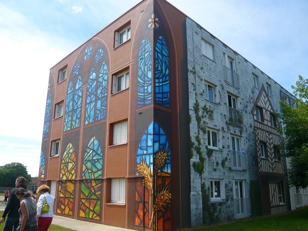 Fresque murale de Bel Air à Chartres en France