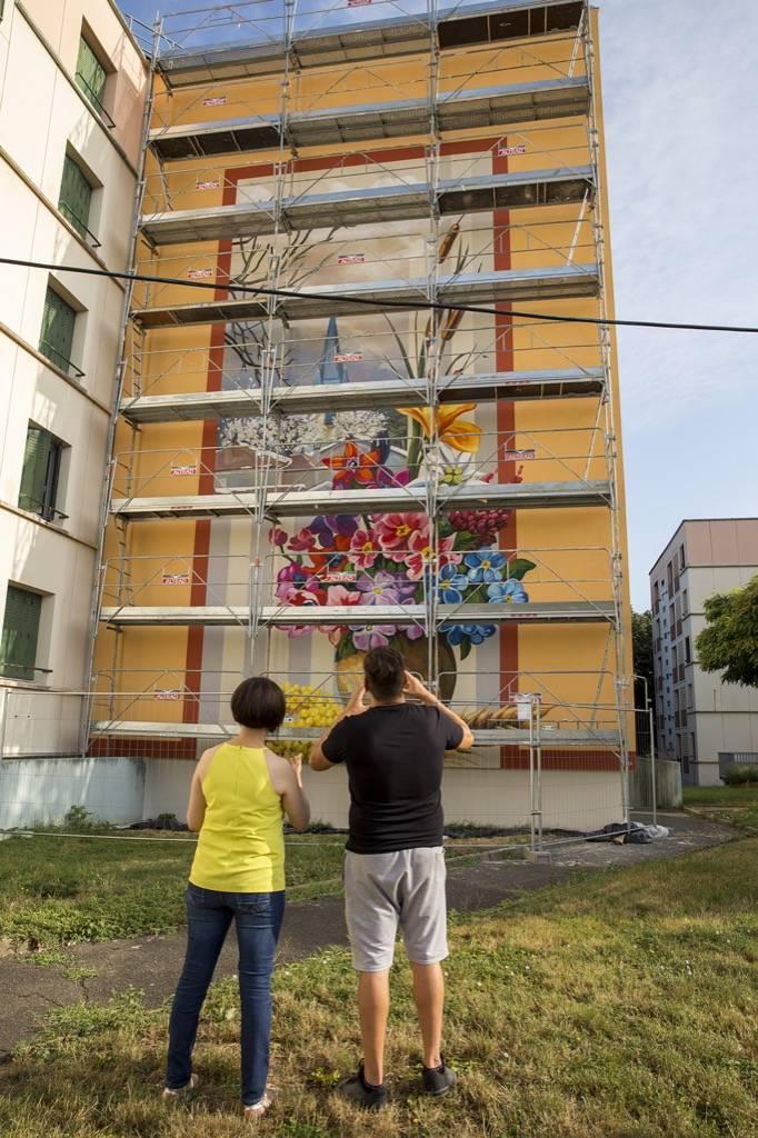 Fresque murale La Chartonnière à Gleizé en France