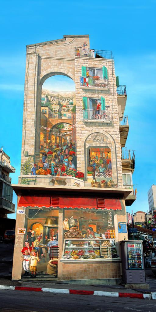 Fresque murale Parcours de murs peints à Jérusalem en Israël