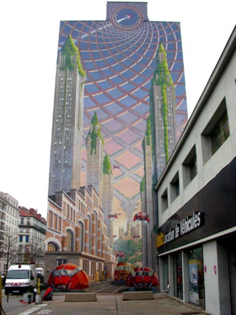 Fresque murale la fresque Lumière à Lyon en France