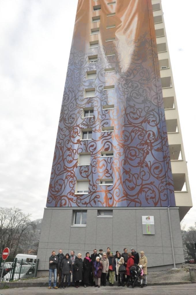 Fresque murale de La Vallonnière à Lyon