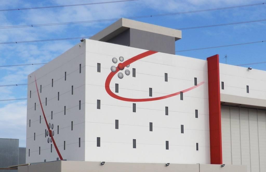 Fresque murale du complexe AREVA à Tricastin en France
