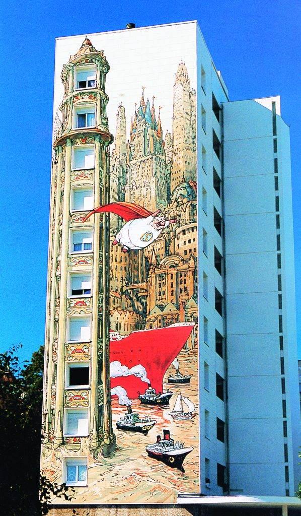 Fresque murale à Angoulême en France