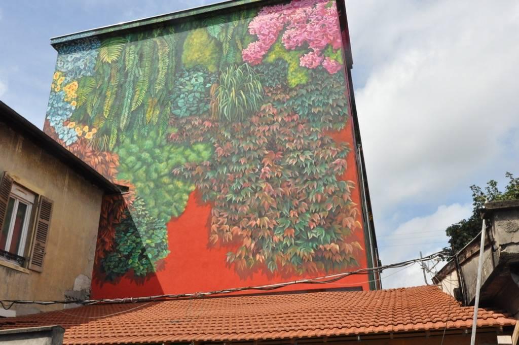 Fresque murale de la Cité Kaps à Oullins en France