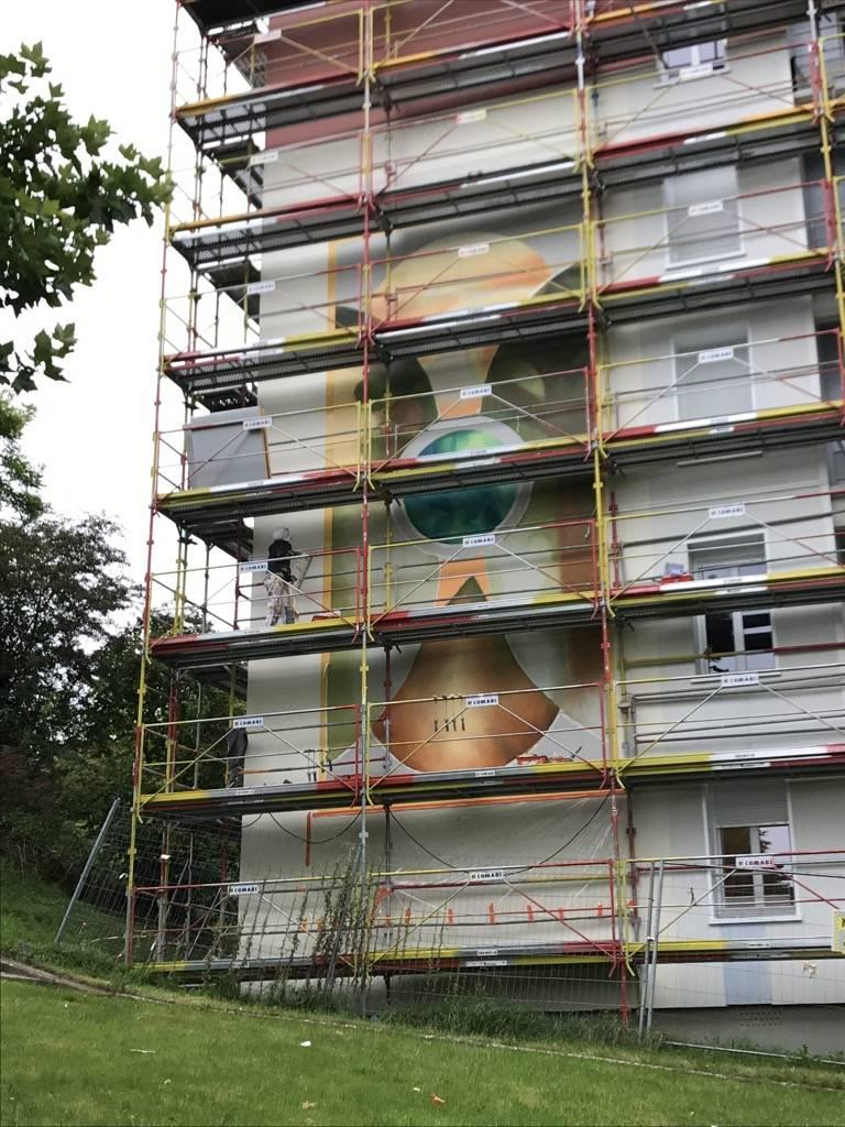 Fresque murale de Tonnerre Les Lices 921