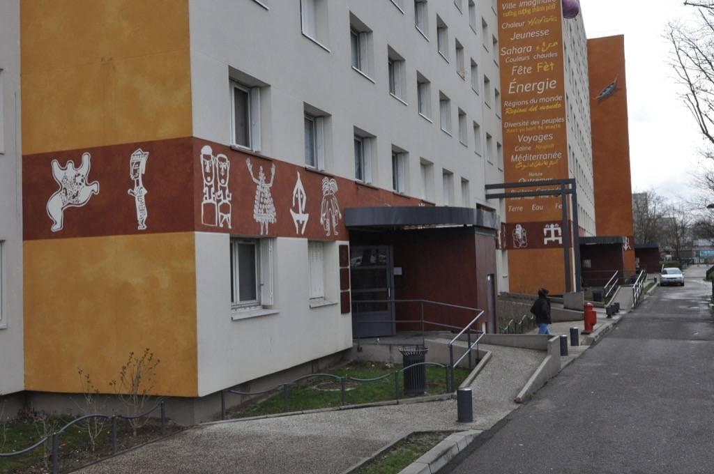 Fresque murale les Noirettes à Vaulx-en-Velin en France