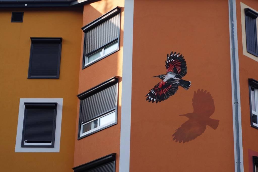 Fresque murale Résidence près des plans à Ville la grand