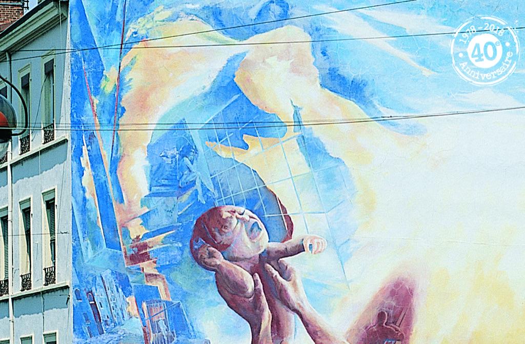 La Fresque de la Renaissance - Réalisée en 1983 - Rue Orsel, Oullins