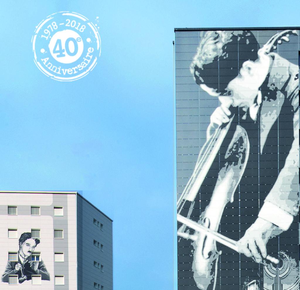 Les Fresques murales Charlie Chaplin - Tours Gilamont - Vevey - Suisse