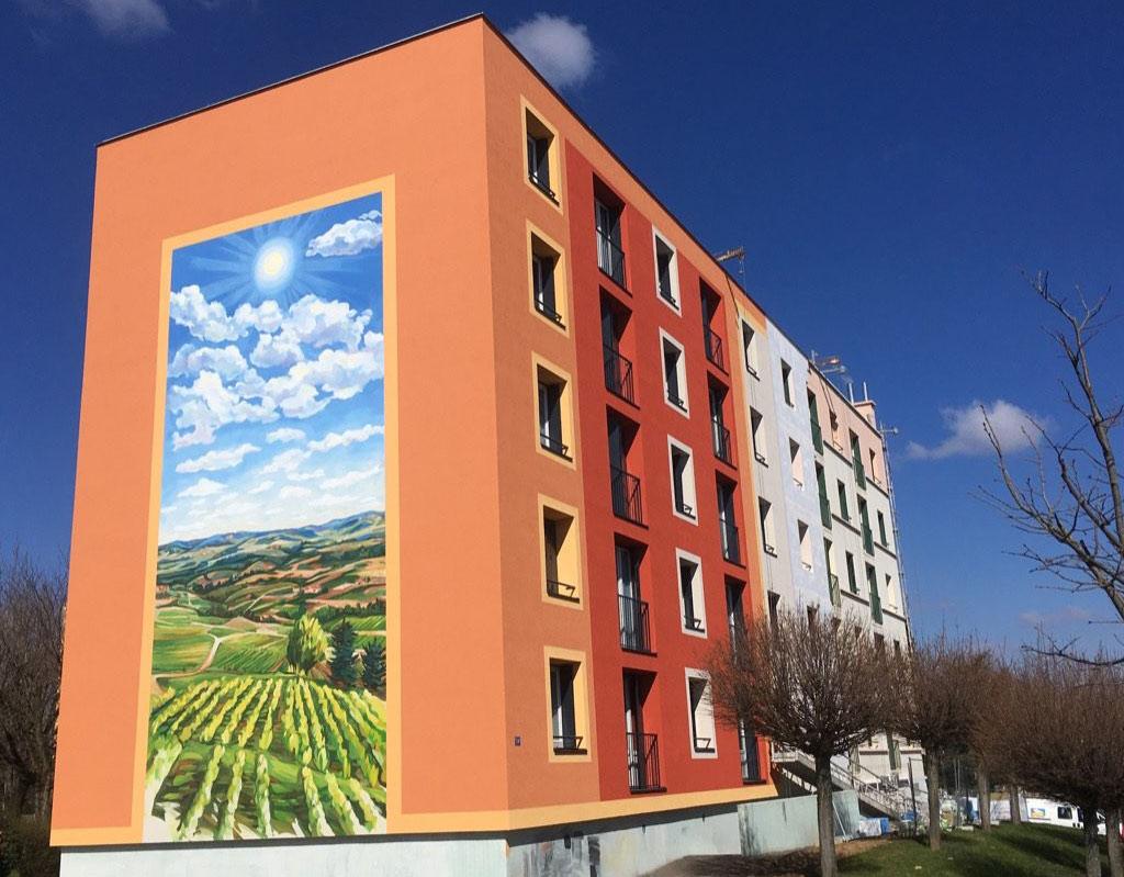 Fresque murale de HBVS La Chartonnière