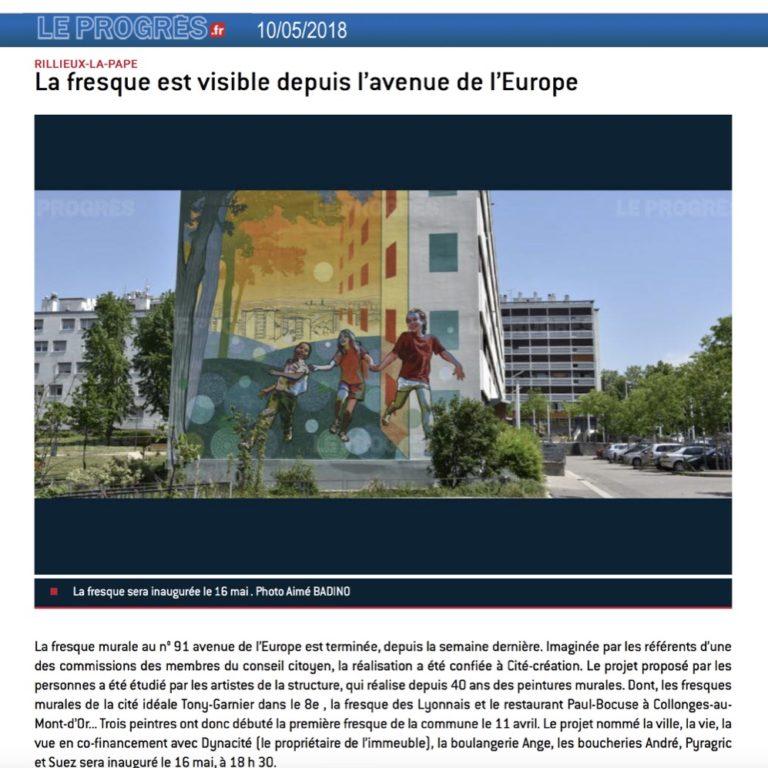 Fresque murale Rillieux est visible - Le Progres