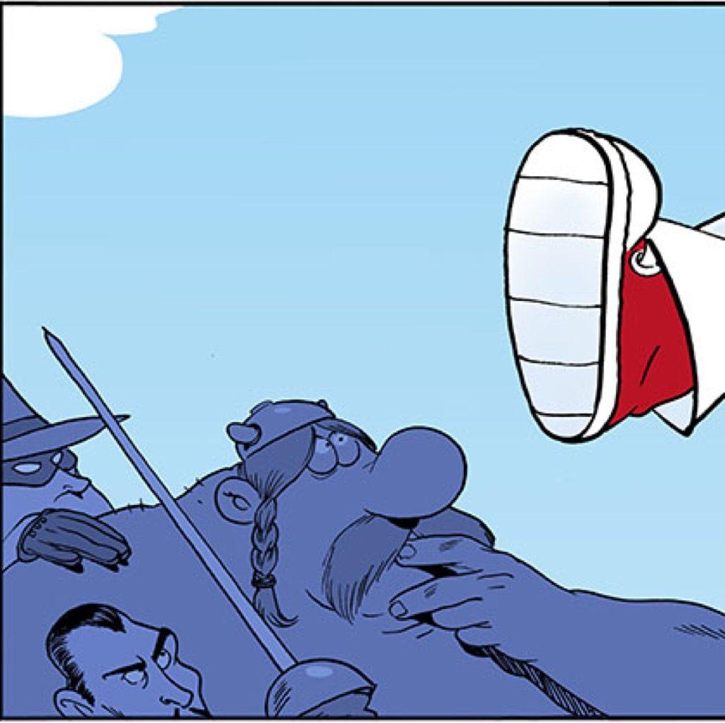 Un personnage de Bande dessinée à Onex - Suisse
