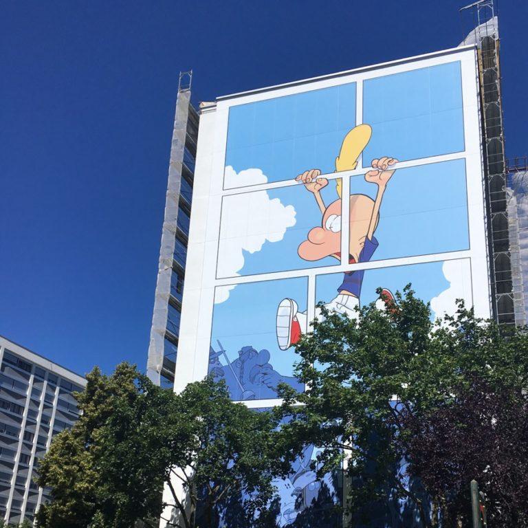 Zep dessine Titeuf son personnage emblématique à Onex, sa ville natale