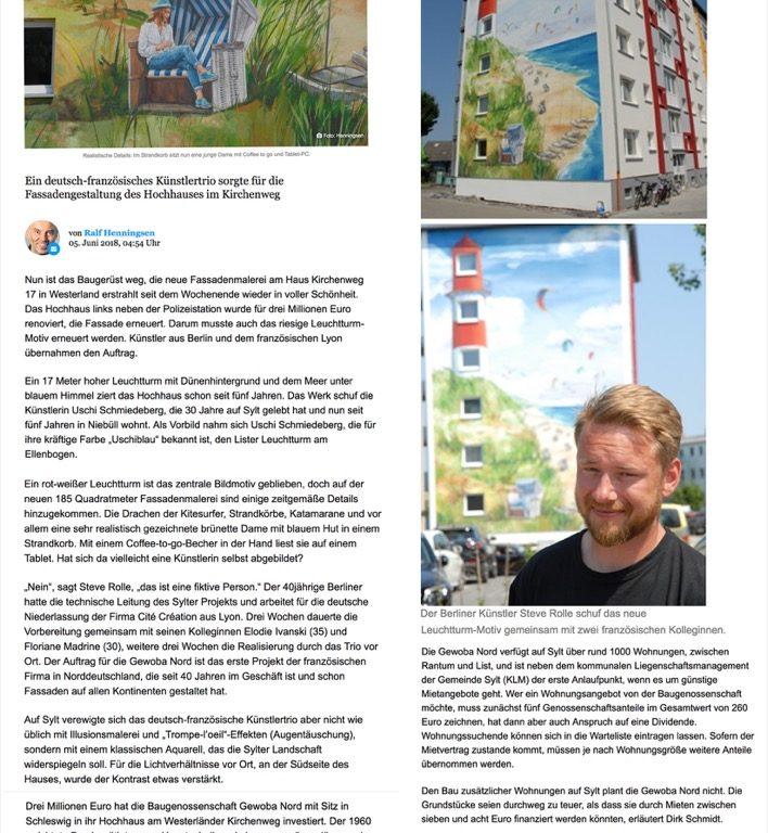 Fresque murale, Sylt (Allemagne) - Le phare dans une nouvelle splendeur
