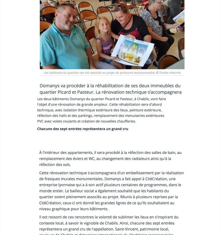 Deux immeubles de Domanys vont être rénovés et embellis - L'Yonne Républicaine