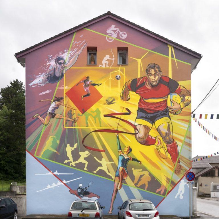 La Fresque Sport et Energie - 5 rue Anatole France - Oyonnax (France)