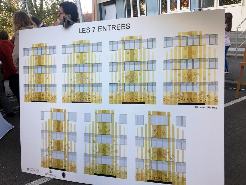 Présentation des maquettes co-créées avec les habitants du quartier Picards-Pasteur, à Chablis