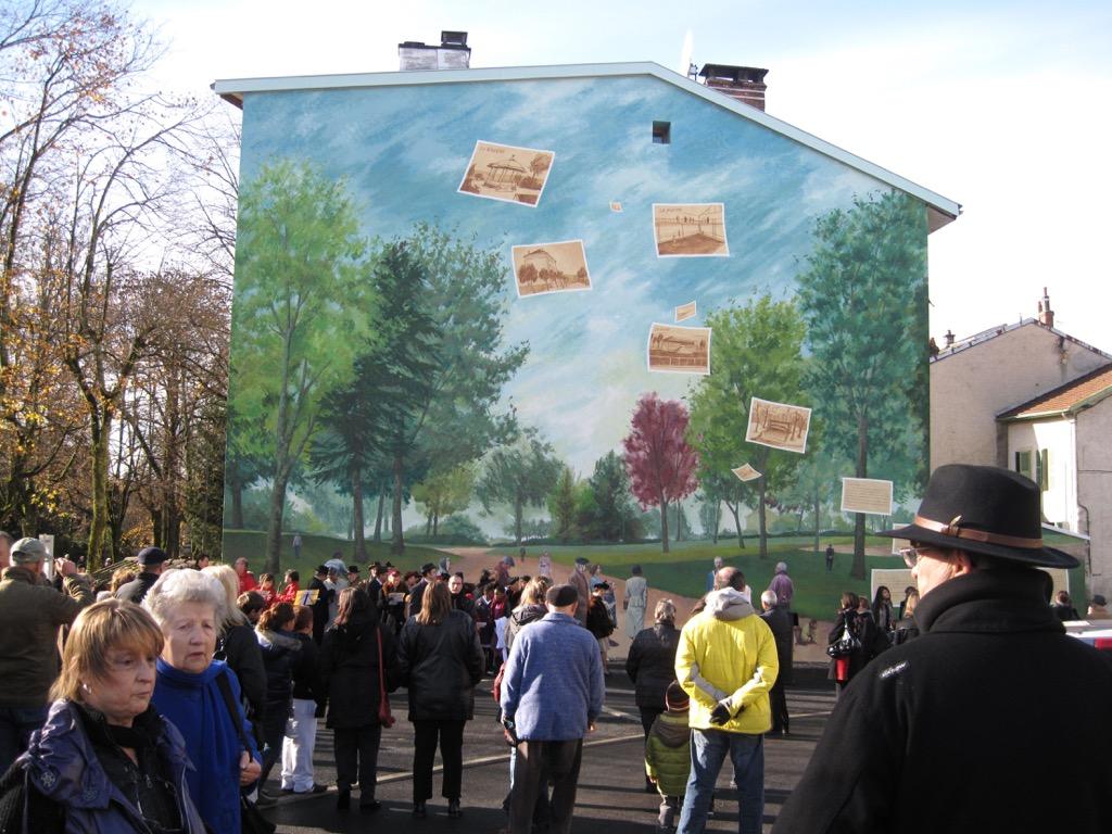 La fresque René Nicod - 3, rue Tacon - Oyonnax - France