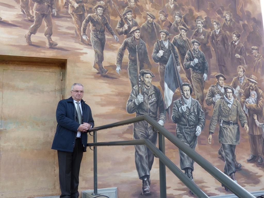 La fresque des Résistants - Anniversaire du 11 Novembre 1943 - 31, rue Anatole France - Oyonnax - France