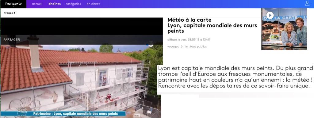 Météo à la carte diffusée sur France3, le 28 septembre 2018