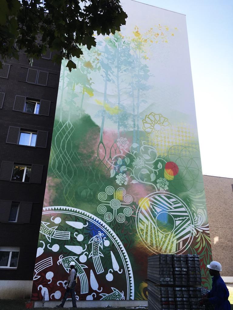 4ème fresque murale à Valibout, Plaisir