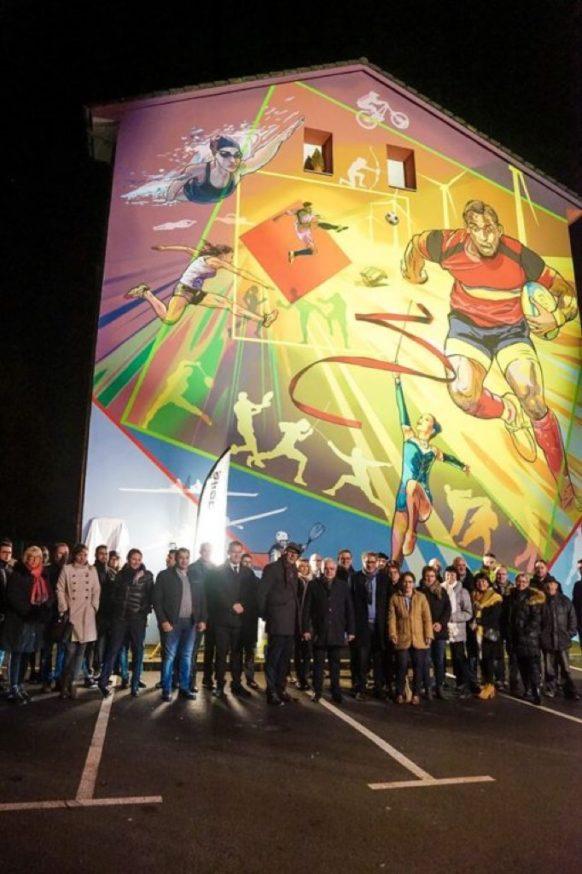 Inauguration de la Fresque murale