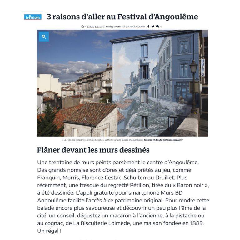 Le Parisien : 3 raisons d'aller au Festival d'Angoulême