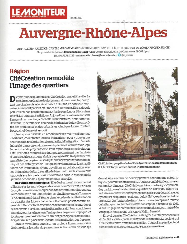 Le Moniteur : CitéCréation remodèle l'image des quartiers