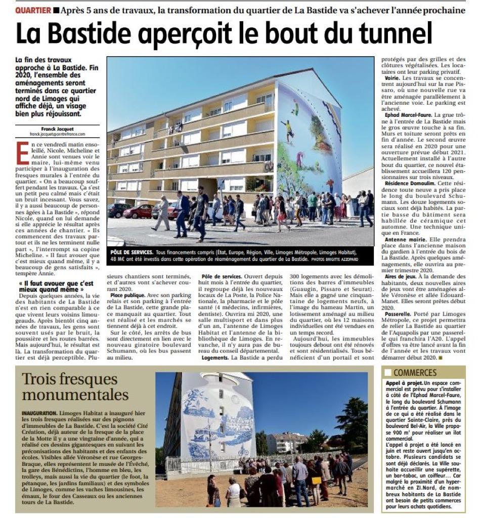 La Bastide aperçoit le bout du tunnel - Populaire du Centre