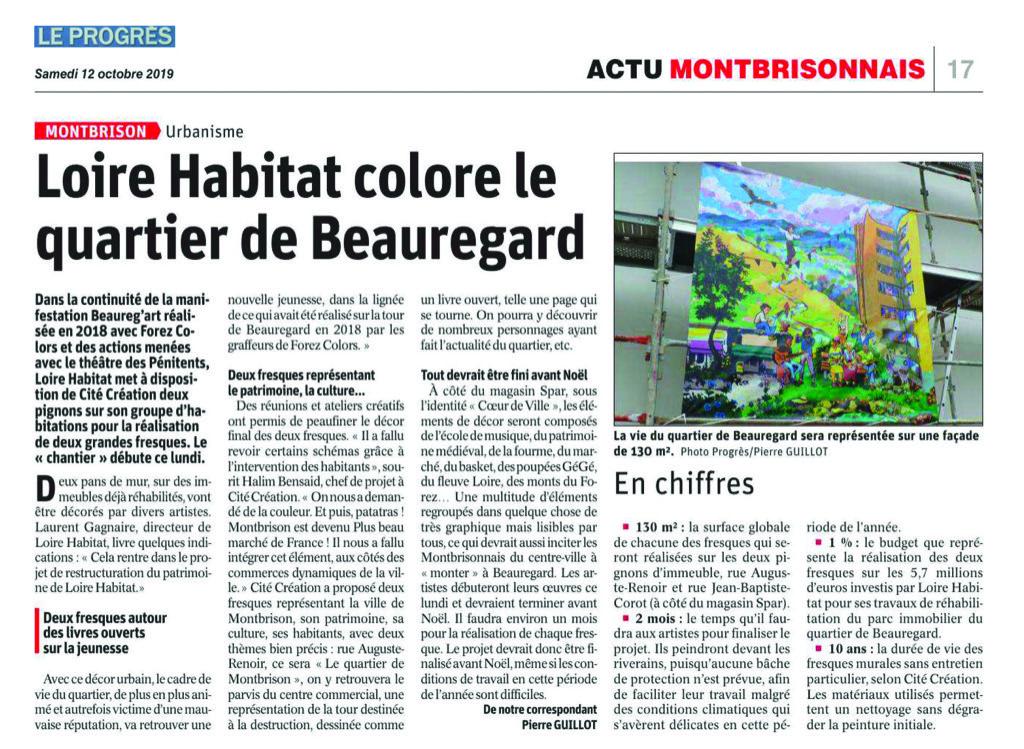 Loire Habitat colore le quartier Beauregard