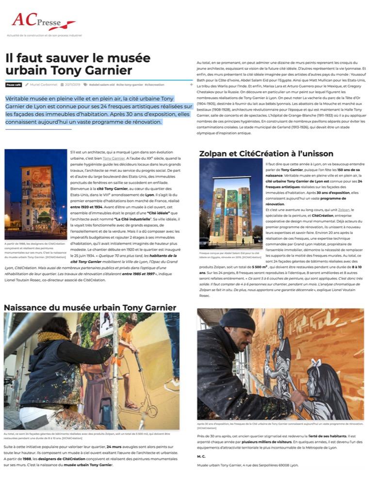 AC Press - Musée Urbain Tony Garnier