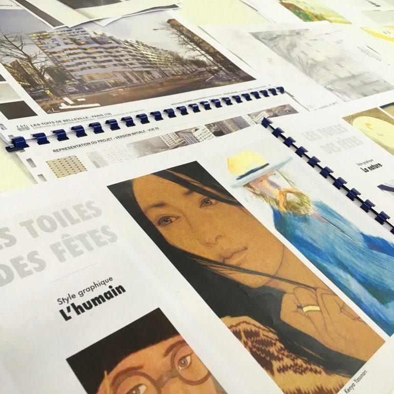 Illustration de la phase de conception artistique de CitéCréation