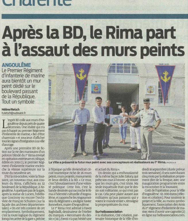 Angoulême : Après la BD, le RIMa part à l'assaut des mur peints